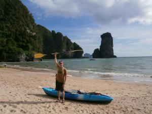 Kayaking in Railay Bay
